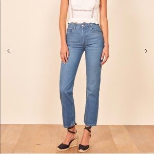 NWT Reformation Cynthia High Relaxed Jeans size 26